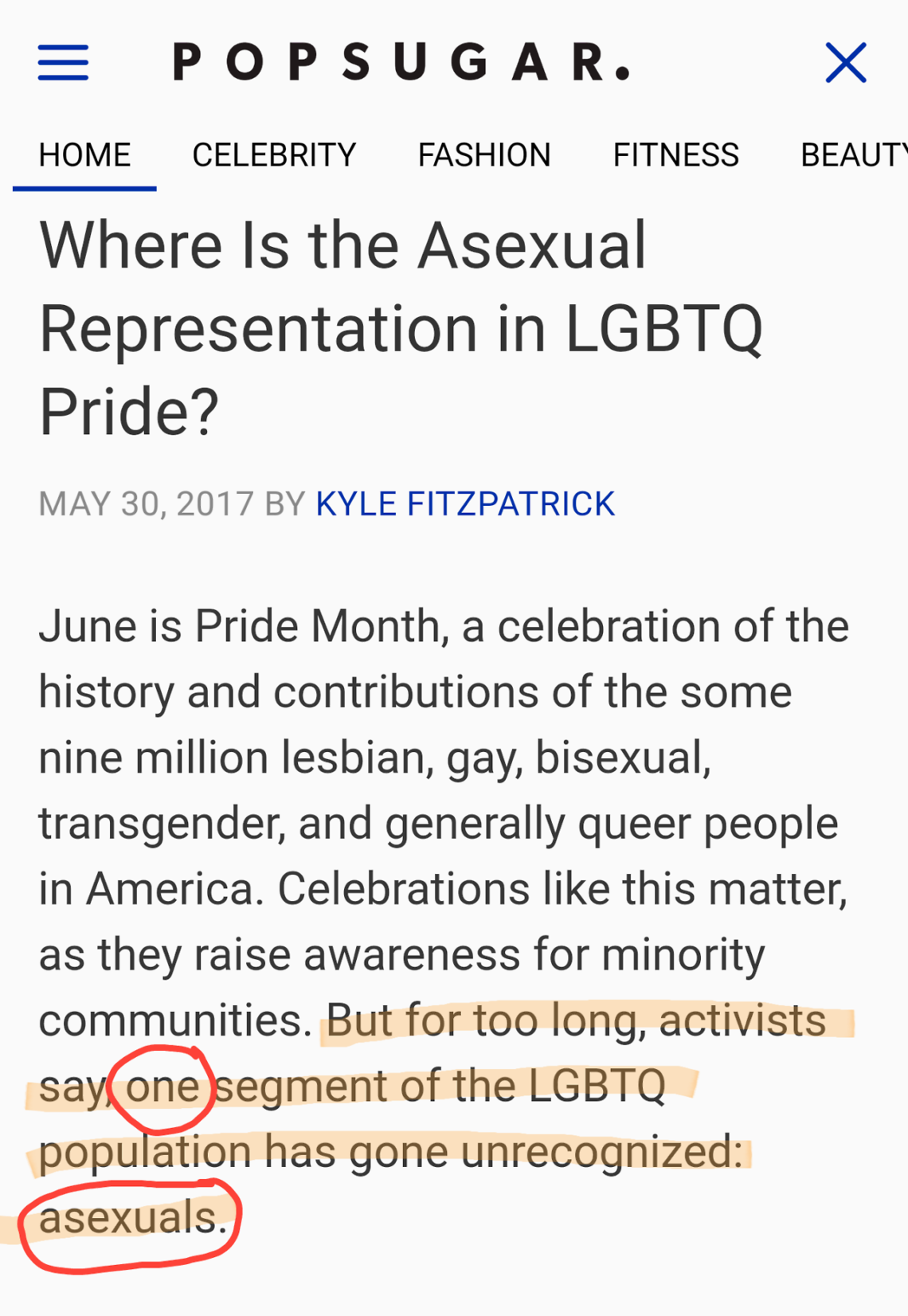 asexual people in history